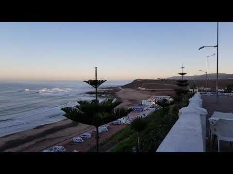 Sidi Ifni: Vor Sonnenaufgang an der Promenade